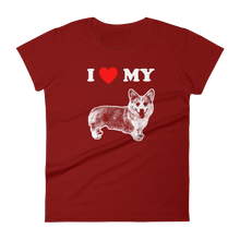 I Love My Corgi - Women's Short Sleeve T-shirt