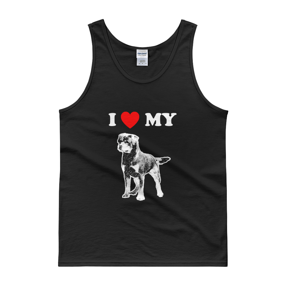 I Love My Rottweiler - Men's Tank Top