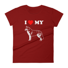 I Love My Husky - Women's Short Sleeve T-shirt