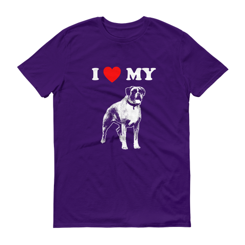I Love My Boxer - Men's Short Sleeve T-shirt