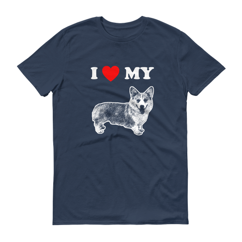 I Love My Corgi - Men's Short Sleeve T-shirt