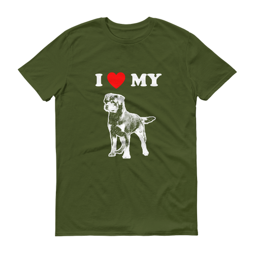 I Love My Rottweiler - Men's Short Sleeve T-shirt
