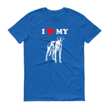 I Love My Greyhound - Men's Short Sleeve T-shirt