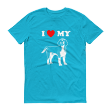 I Love My Beagle - Men's Short Sleeve T-shirt