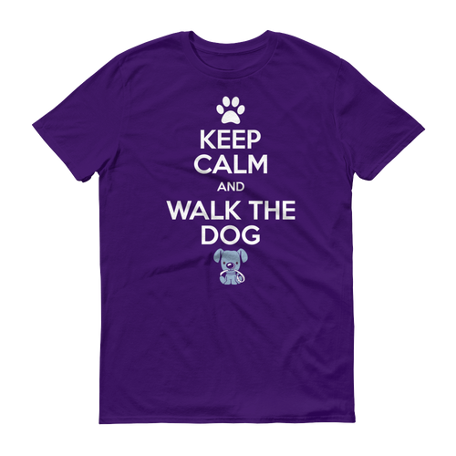 Keep Calm and Walk the Dog - Men's Short sleeve t-shirt