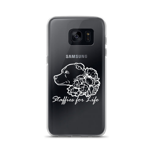 Staffies for Life - White - Samsung Case S7, S7 Edge, S8, S8+