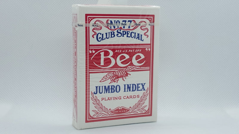 Bee - Diamond Back - Red - Jumbo - Vintage