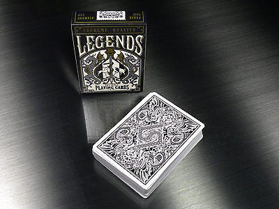 Legends V2 - Metallic Black Playing Cards