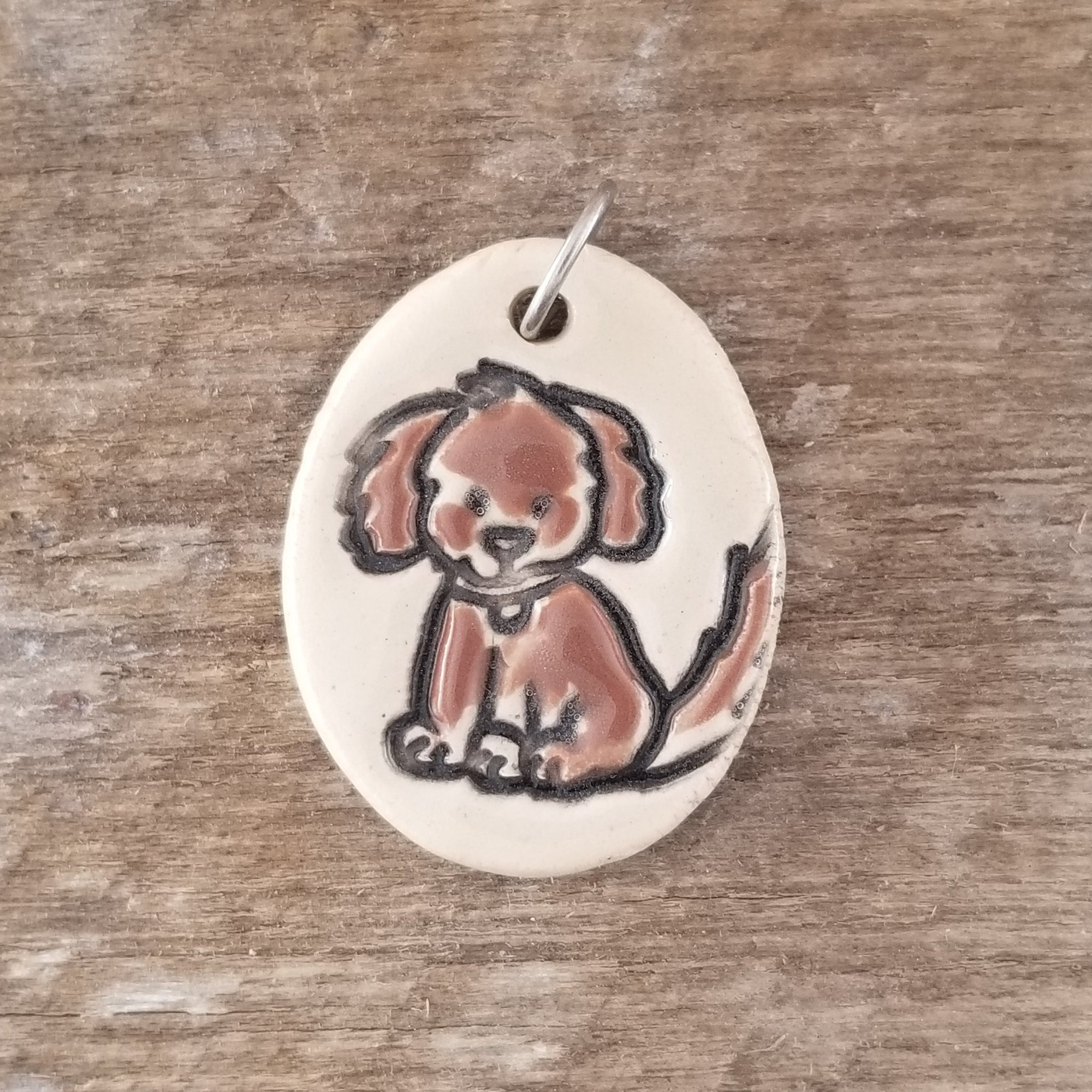 Brown Dog  Everyday Pendant - Cheryl Stevens Studio