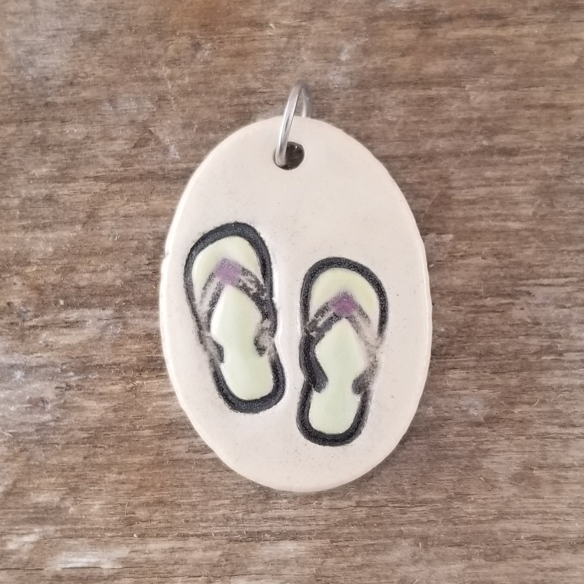 Green Flip Flop Everyday Pendant - Cheryl Stevens Studio
