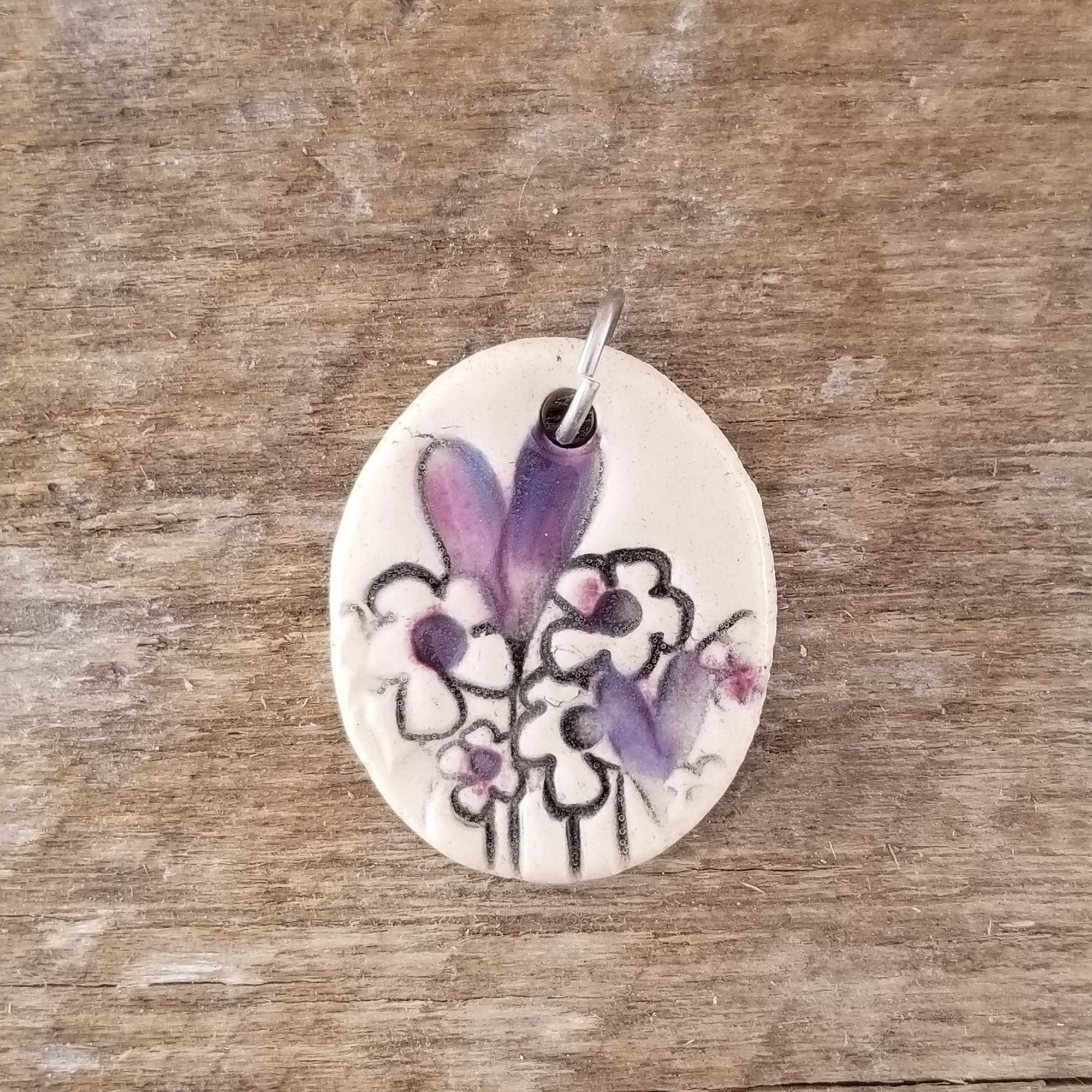 Purple Heart Garden Small Pendant - Cheryl Stevens Studio