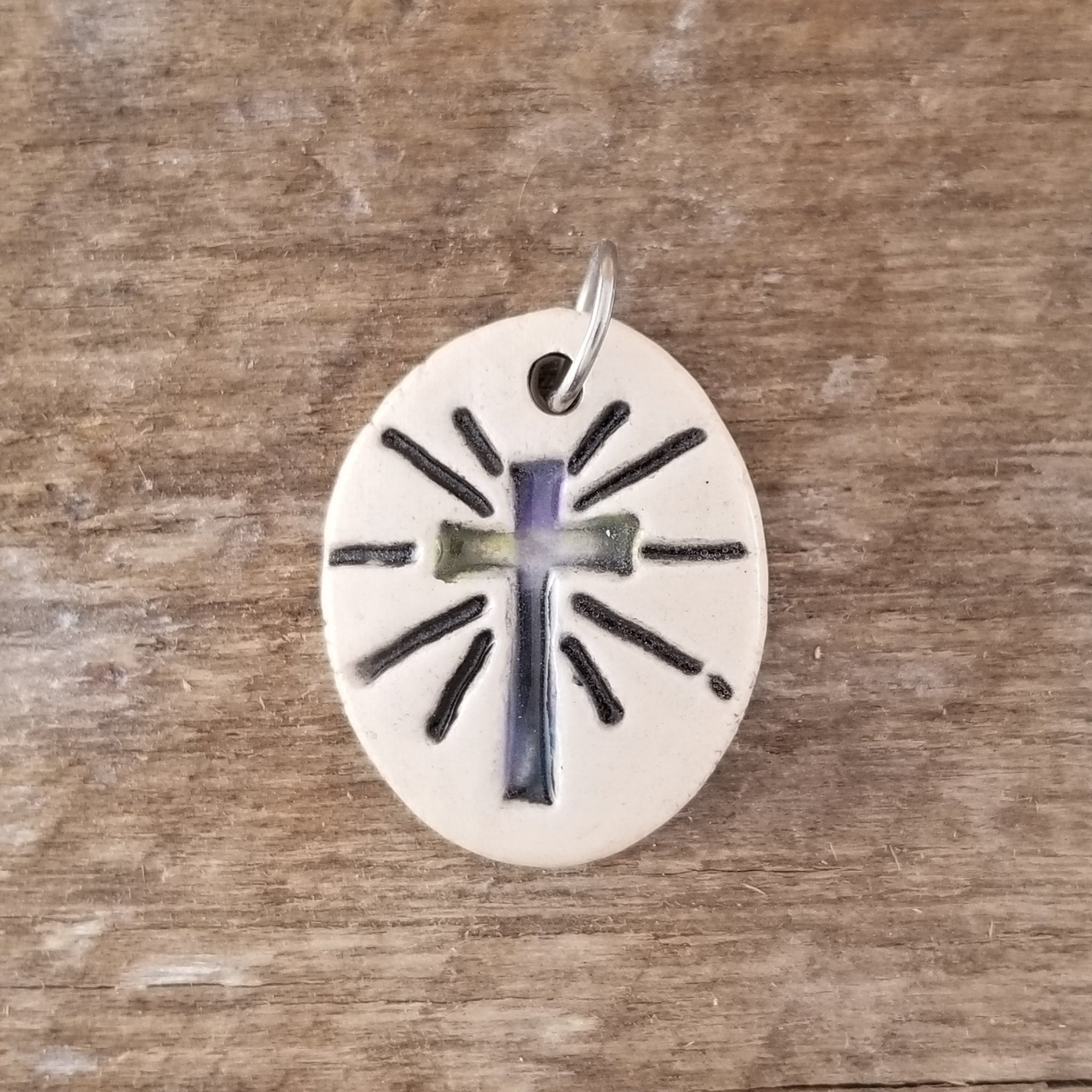 Cross Ray Small Pendant - Cheryl Stevens Studio