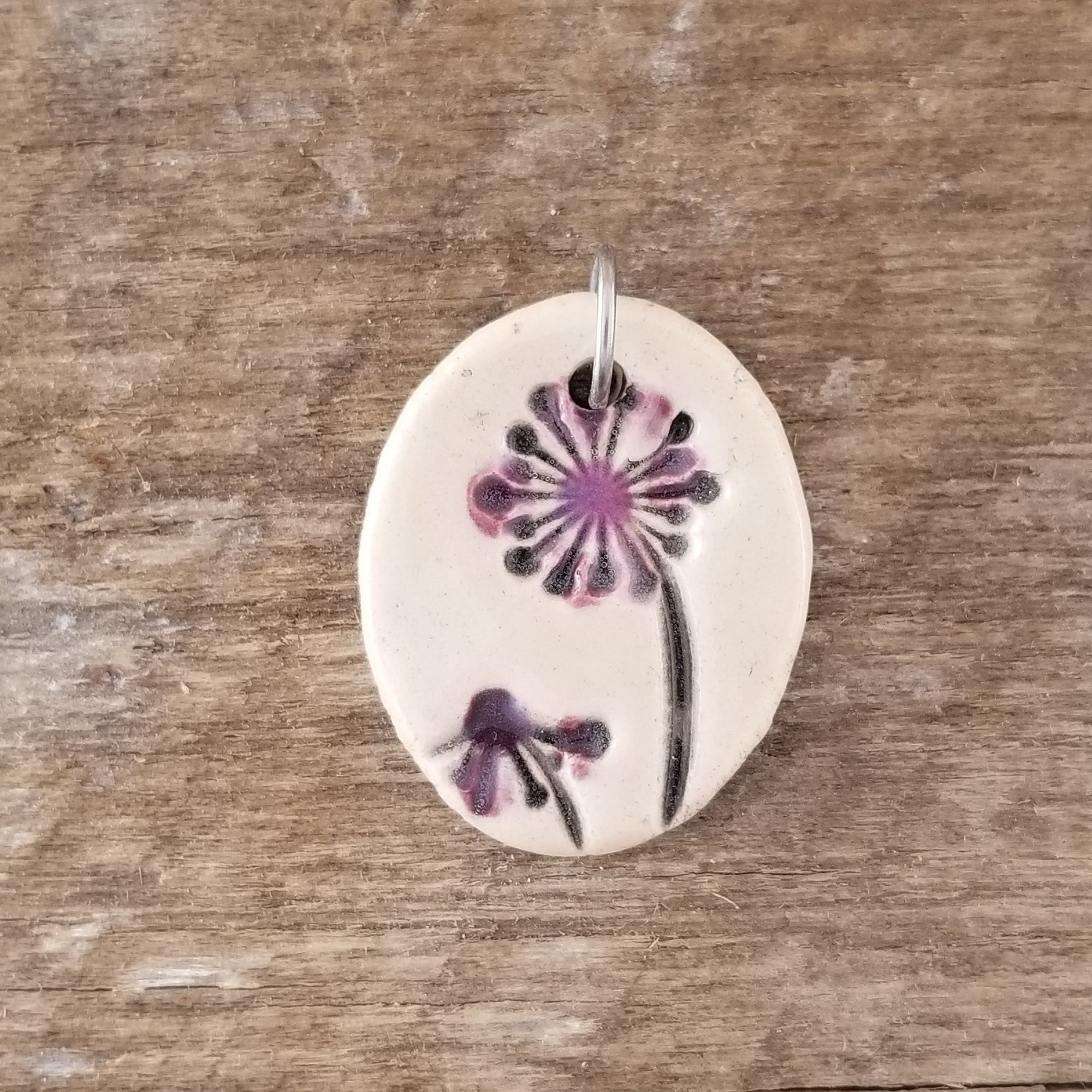 Purple Blowers Small Pendant - Cheryl Stevens Studio