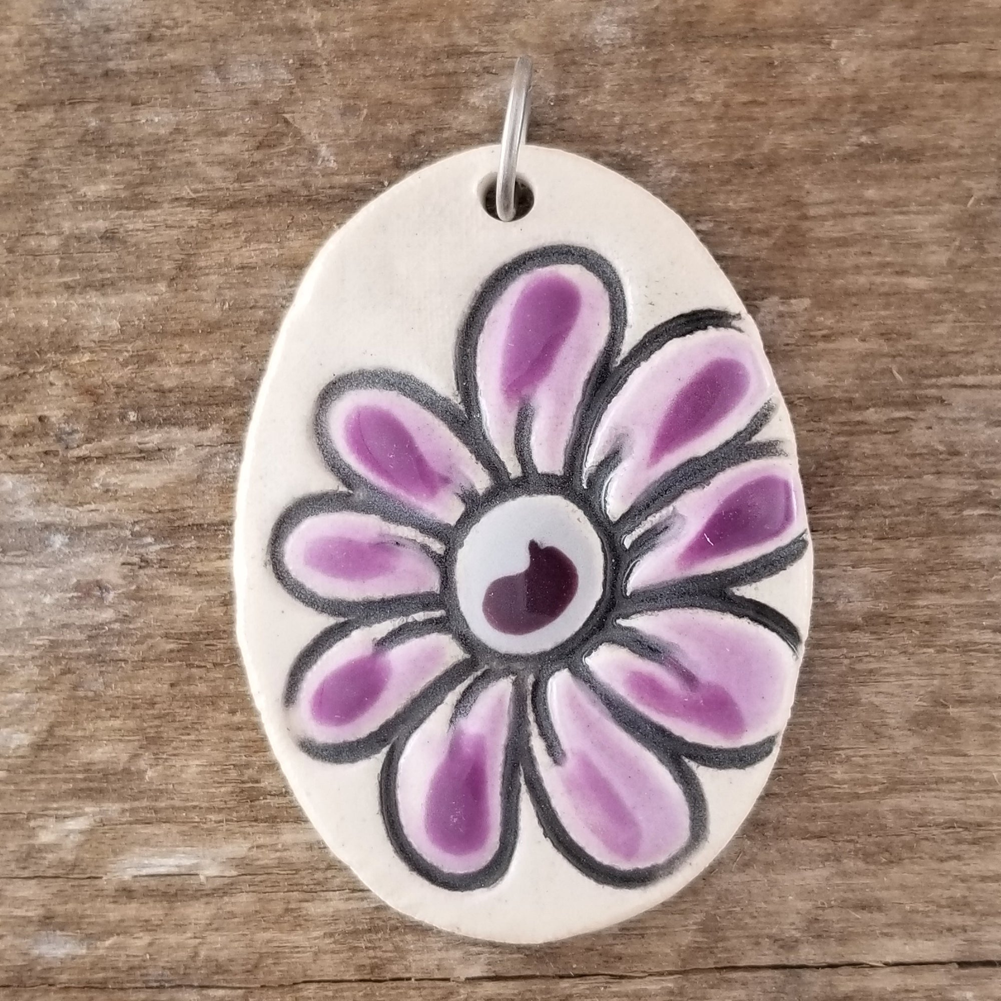 Purple Daisy Statement Pendant - Cheryl Stevens Studio