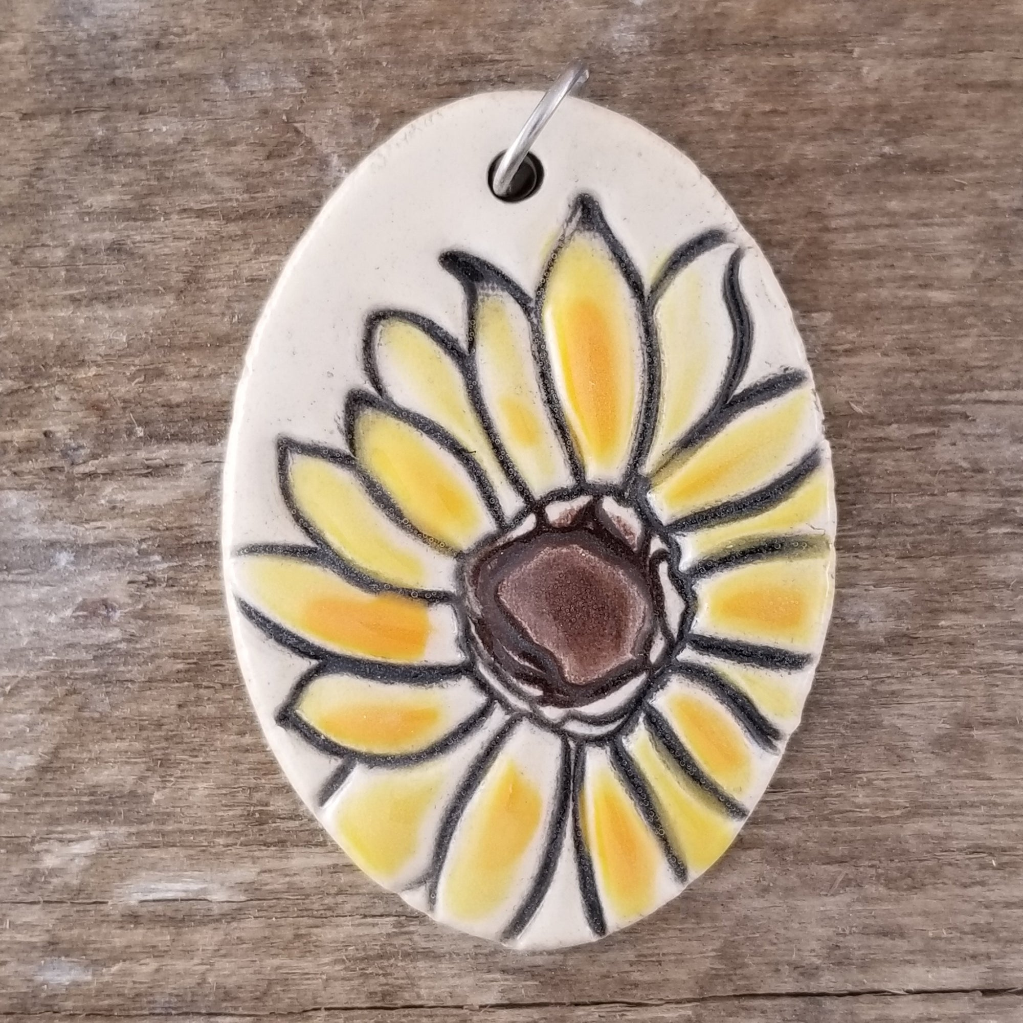 Sunflower Statement Pendant - Cheryl Stevens Studio