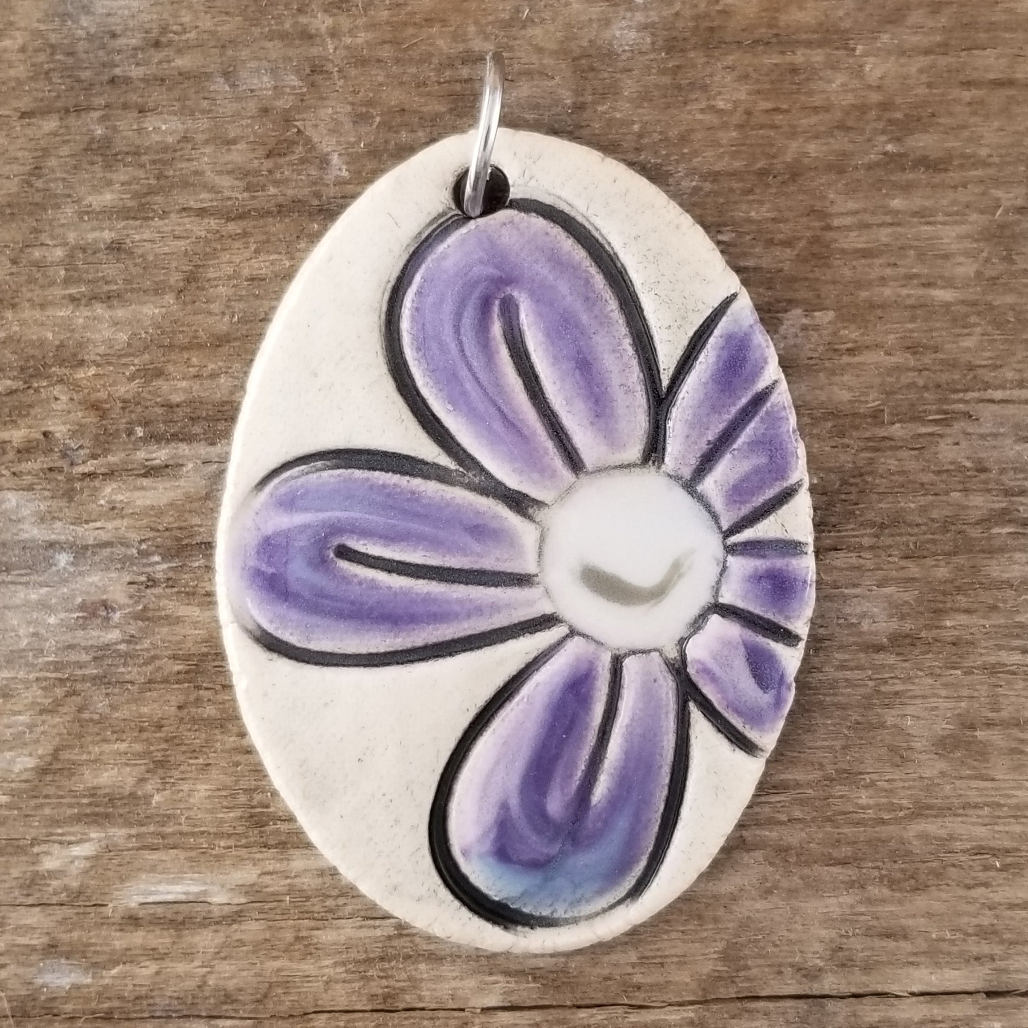 Purple Fluffy Statement Pendant - Cheryl Stevens Studio