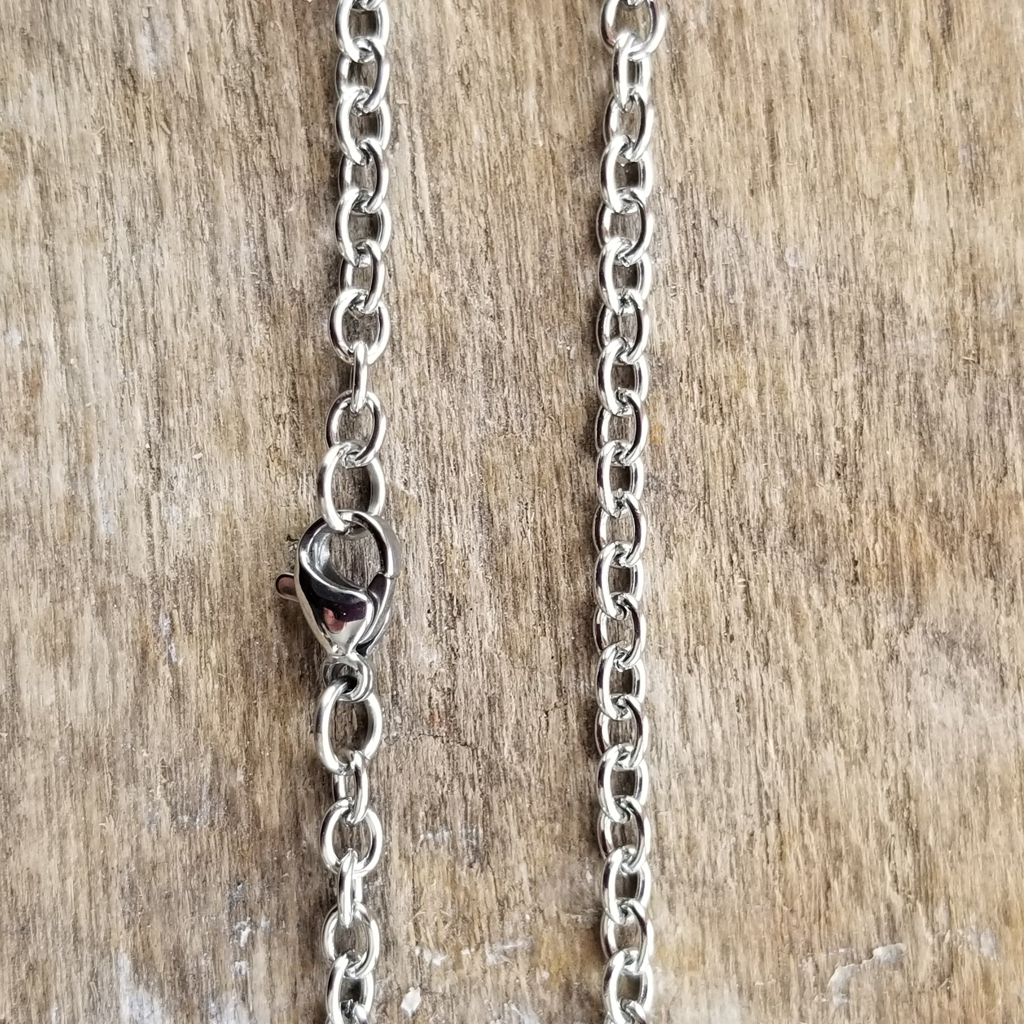 "3mm Cable 18"" Stainless Steel Chain - Cheryl Stevens Studio"