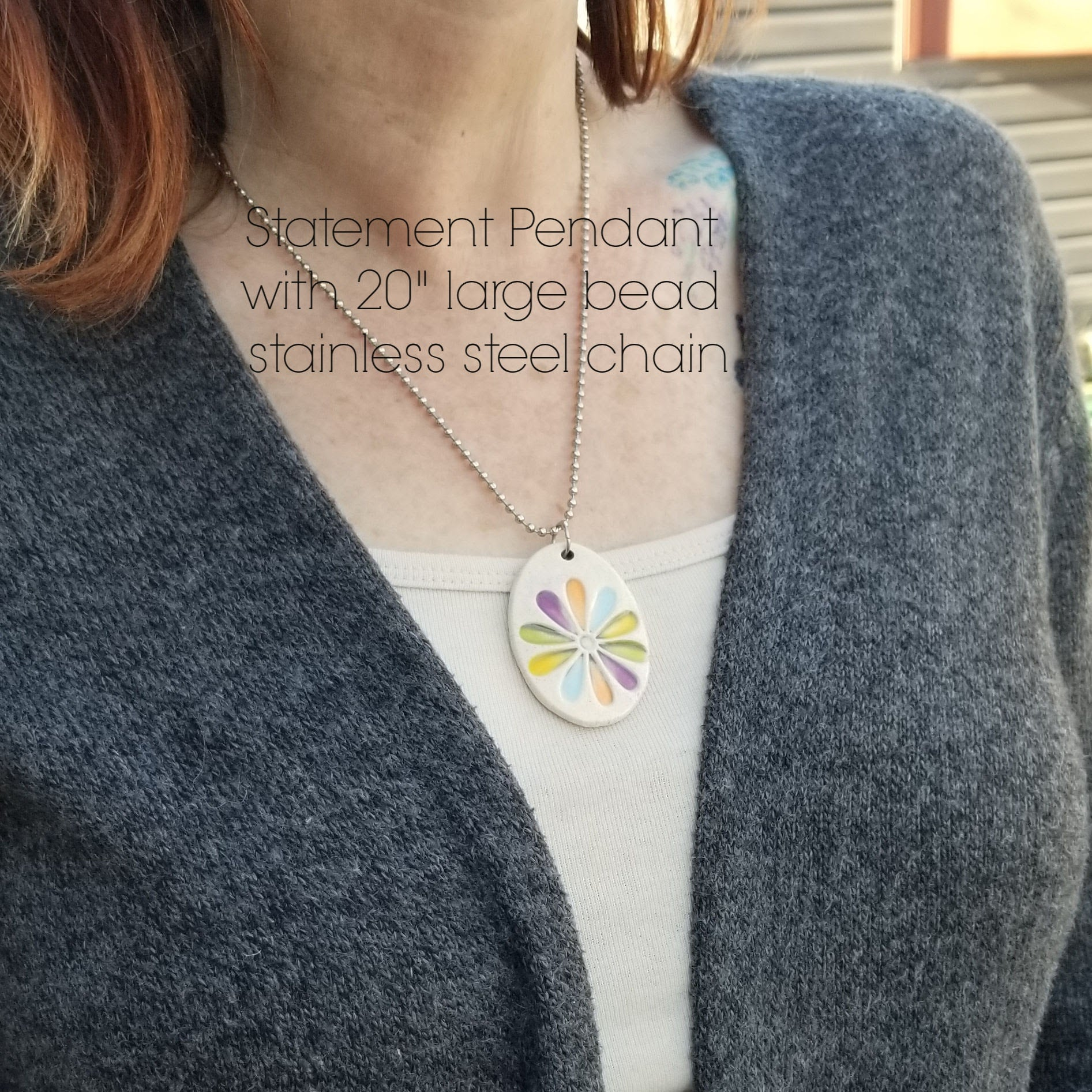 Neutral Spray  Statement Pendant - Cheryl Stevens Studio