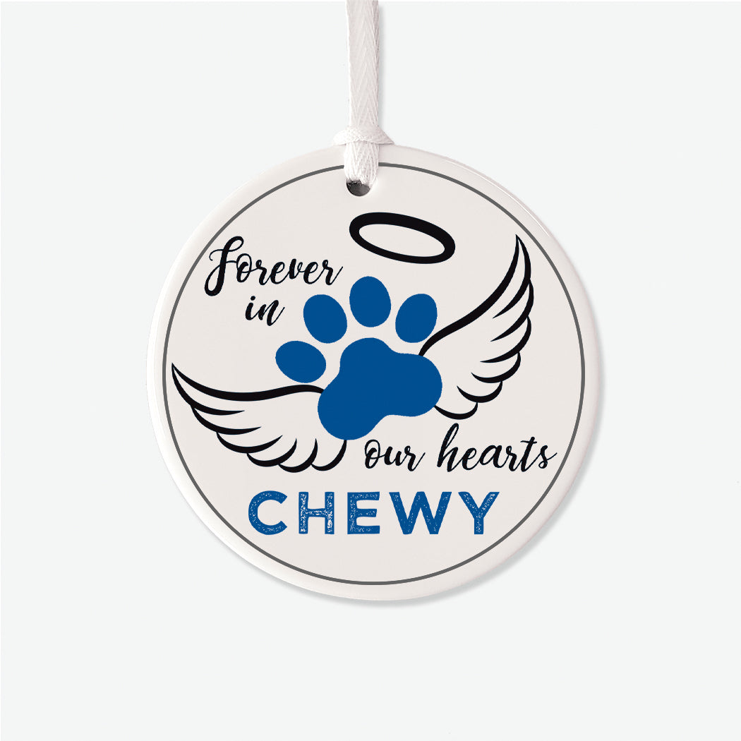 Boy Pet Memorial Personalized Christmas Ornament