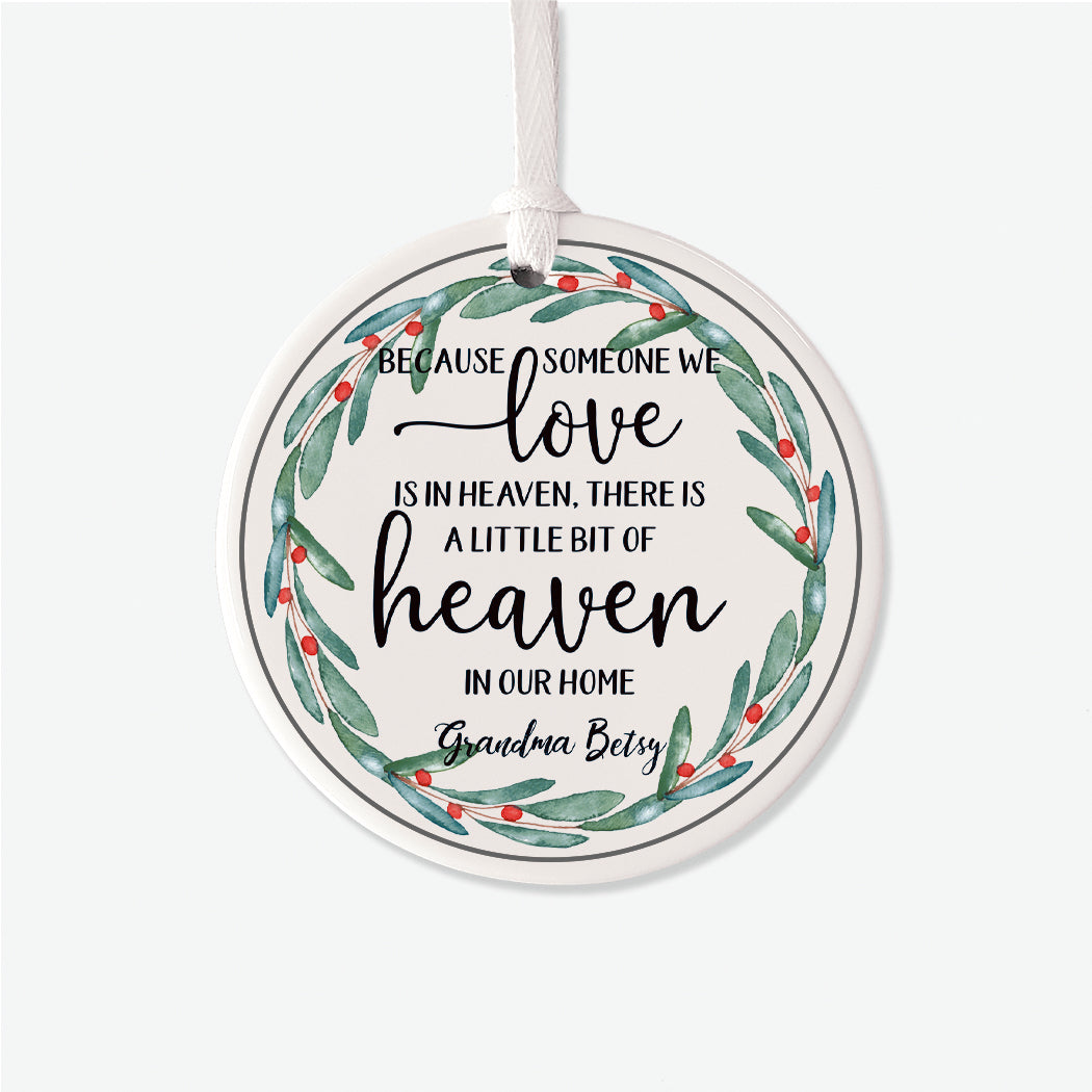 Love in Heaven Personalized Christmas Ornament