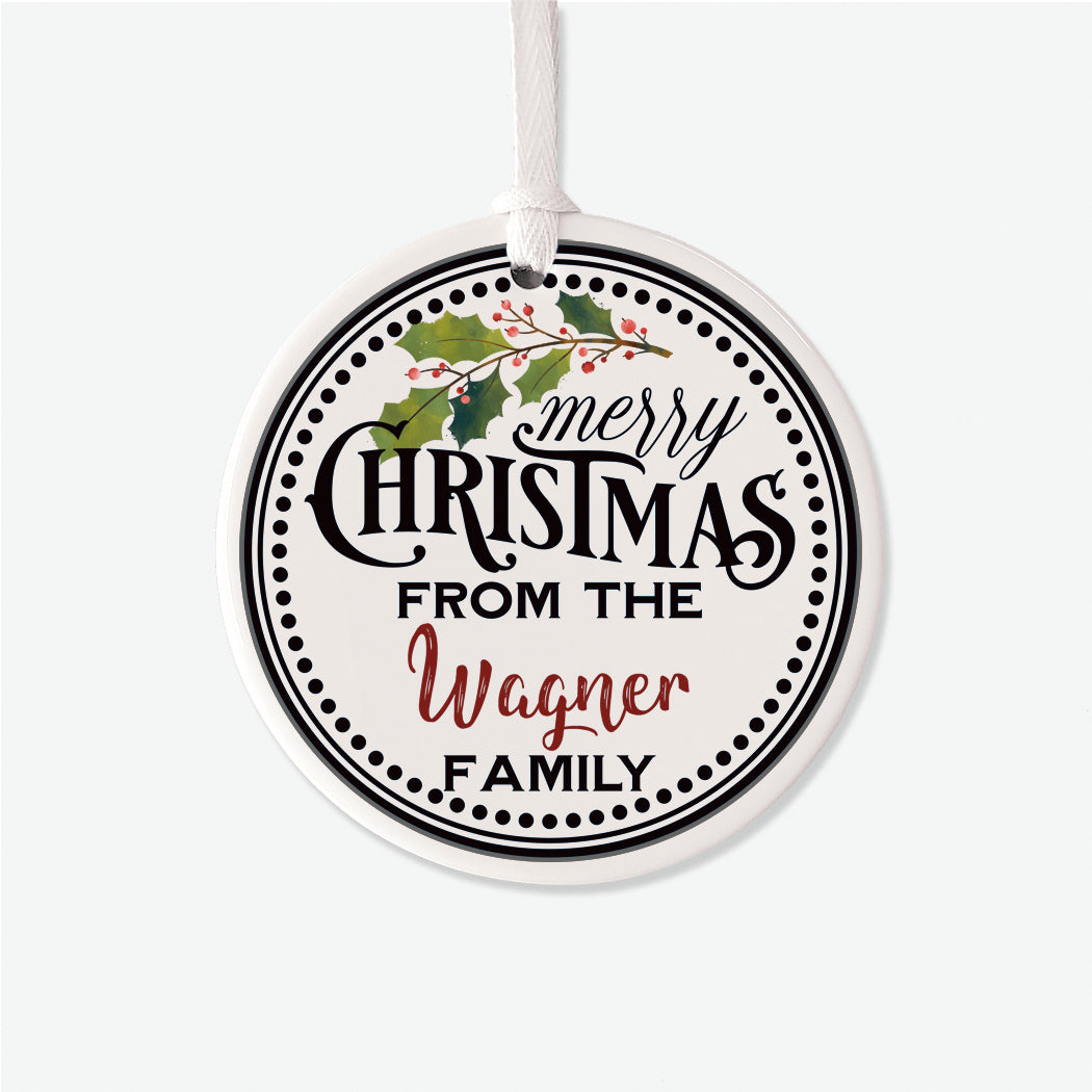 Holly From Family Personalized Christmas Ornament