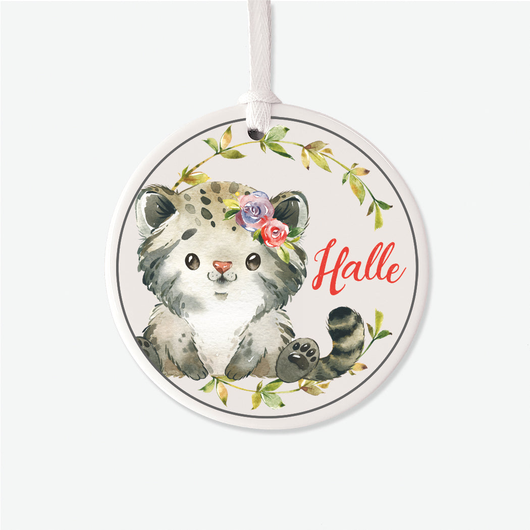 Fluffy Kitty Personalized Ornament