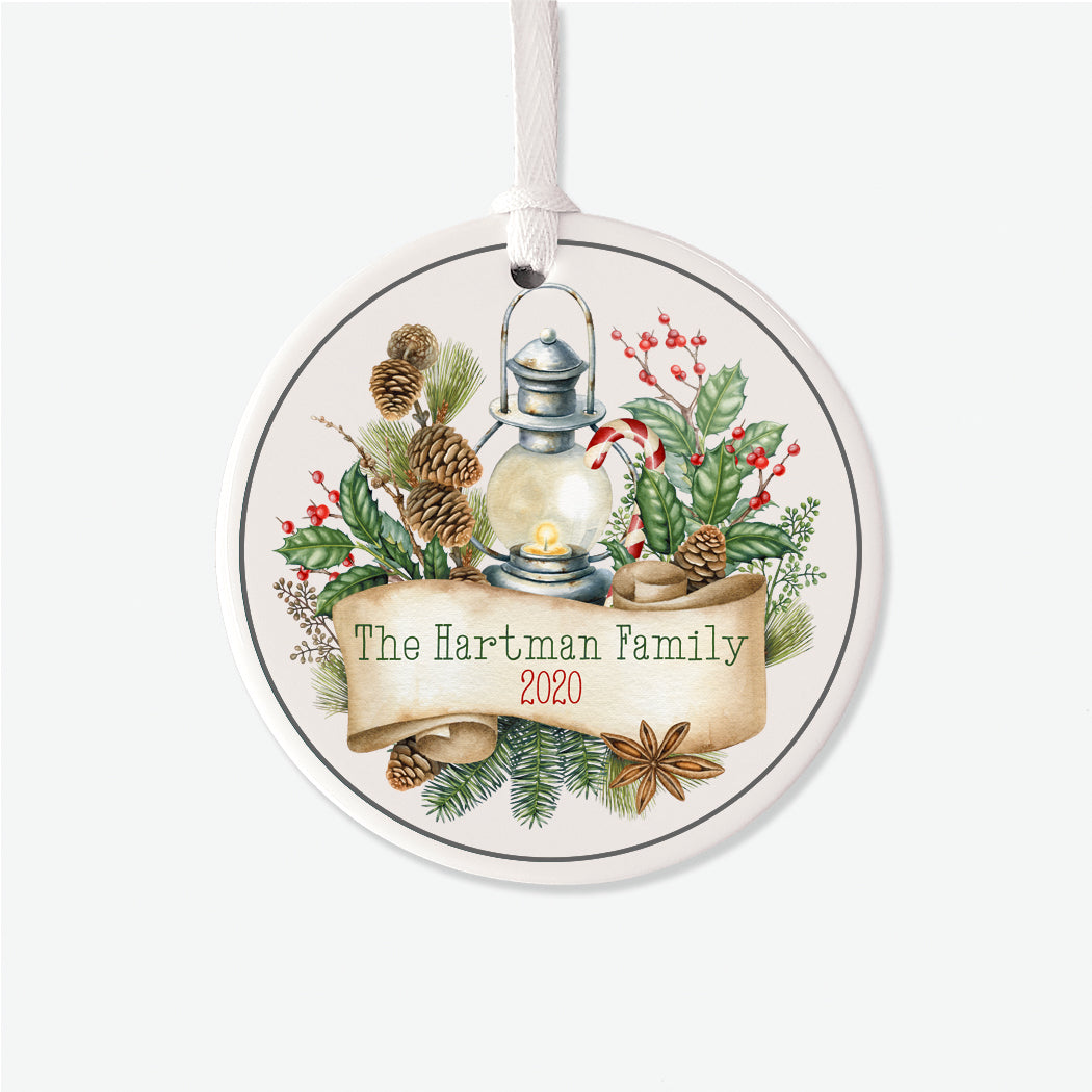 Lantern Personalized Christmas Ornament