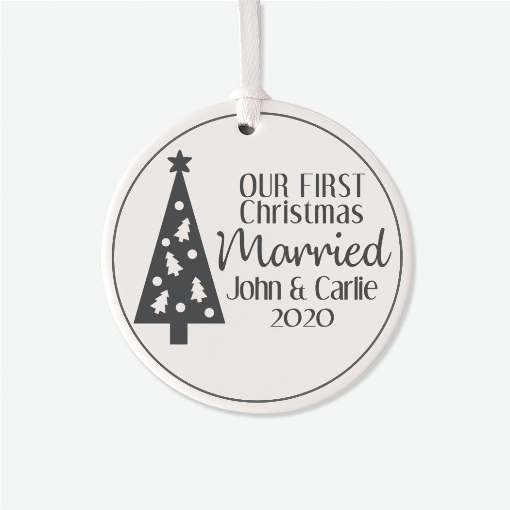 Married First Personalized Christmas Ornament
