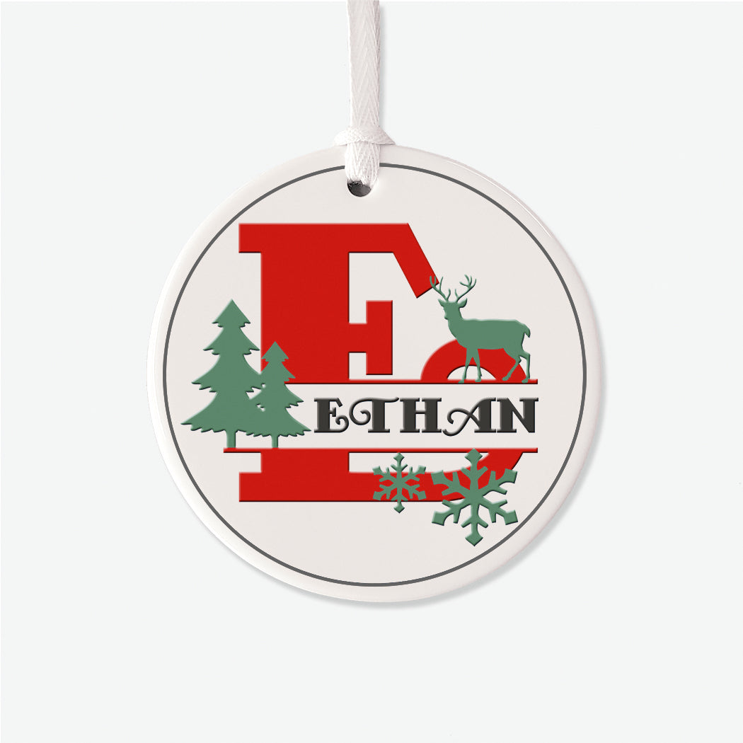 Monogram Personalized Christmas Ornament
