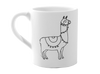 Lllama Coloring Book Mug Pottery To Go - Cheryl Stevens Studio
