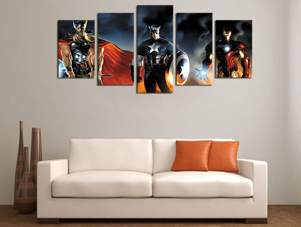 Captain America Civil War anime movie canvas art