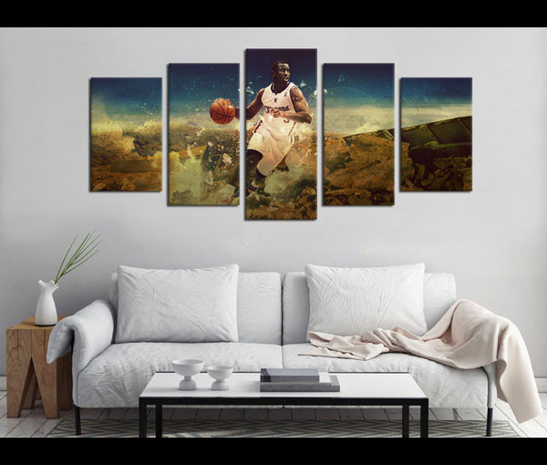 5 Piece Canvas Art Chris Paul Basketball Canvas Wall Art Decor