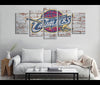 5 Piece Canvas Art Cleveland Cavaliers Basketball Canvas Wall Art Decor