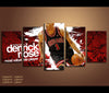 5 Piece Canvas Art Derrick Rose Basketball Canvas Wall Art Decor