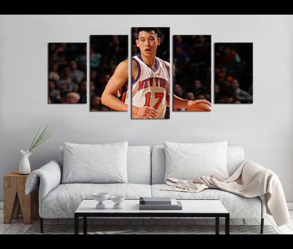 5 Piece Canvas Art Jeremy Lin Basketball Canvas Wall Art Decor