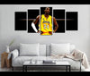 5 Piece Canvas Art Kobe Brynat Basketball Canvas Wall Art Decor