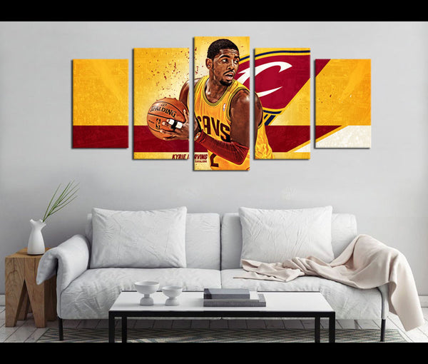 5 Piece Canvas Art Kyrie Irving Basketball Canvas Wall Art Decor