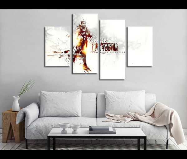 4 Piece Canvas Art Kyrie Irving Basketball Canvas Wall Art Deocr