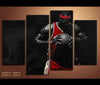 4 Piece Canvas Art Lebron James Basketball Canvas Wall Art Deocr