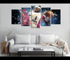 5 Piece Canvas Art Miami Heat Basketball Canvas Wall Art Decor