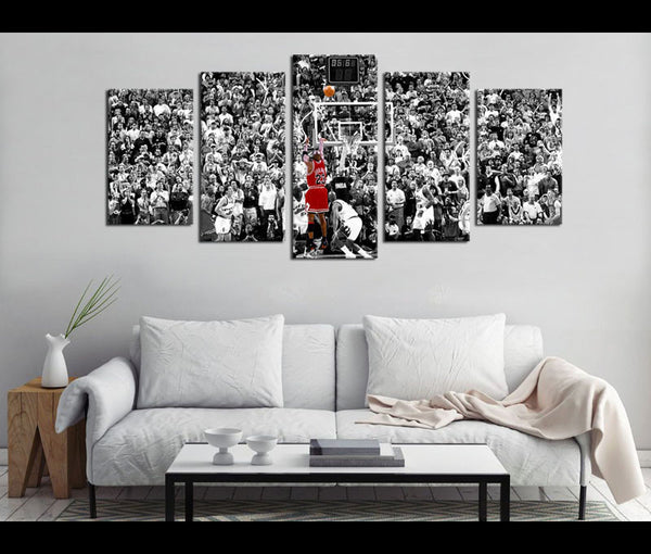 5 Piece Canvas Art Michael Jordan Basketball Canvas Wall Art Decor ...