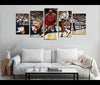 5 Piece Canvas Art Michael Jordan Basketball Canvas Wall Art Decor