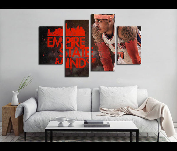 4 Piece Canvas Art New York Knicks Basketball Canvas Wall Art Decor
