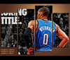 4 Piece Canvas Art Russell Westbrook Basketball Canvas Wall Art Decor