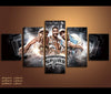 5 Piece Canvas Art Spurs Basketball Canvas Wall Art Decor
