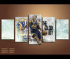 5 Piece Canvas Art Stephen Curry Basketball Canvas Wall Art Decor