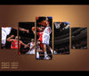 5 Piece Canvas Art Ultimate NBA Basketball Canvas Wall Art Decor