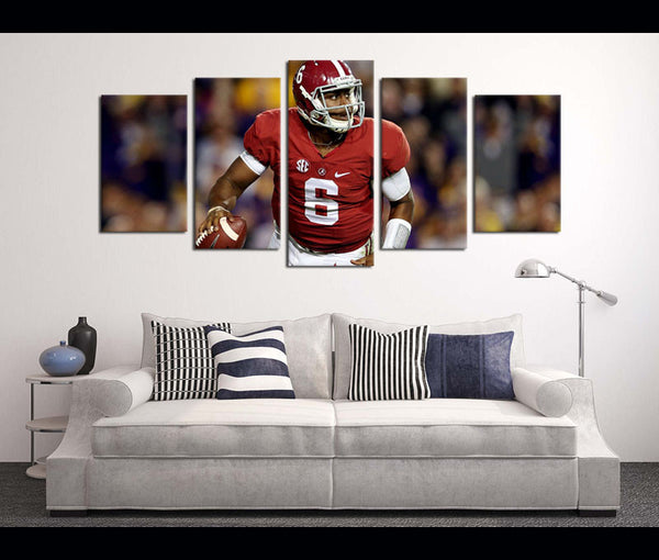 5 Pieces HD Prints Wall Art Canvas Football Alabama