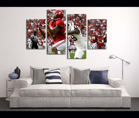 4 Pieces HD Canvas Prints Football Alabama for Wall Decor