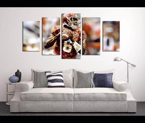 5 Pieces HD Canvas Prints Football Alabama for Wall Decor